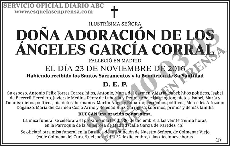 Adoración de los Ángeles García Corral